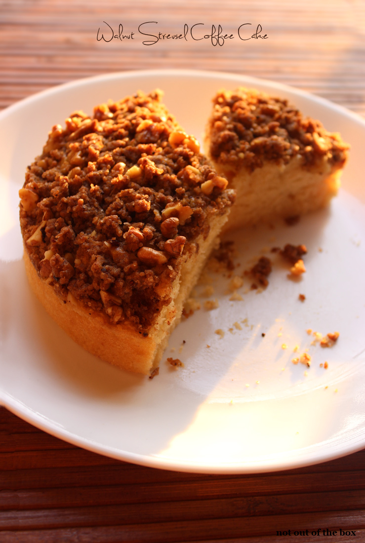 Walnut Streusel Coffee Cake