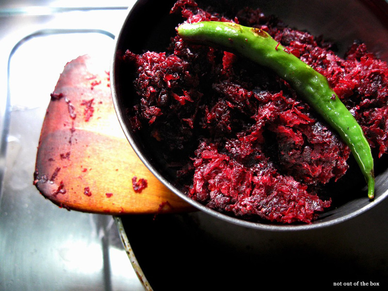 Beet Bata/Roasted paste of Beetroot