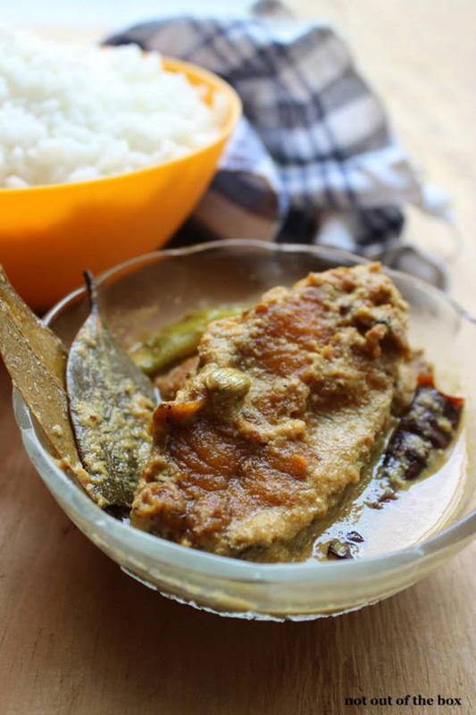Poshto Bhetki/Bhetki fish in spicy poppy seeds gravy