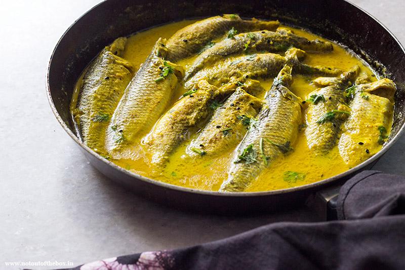 Bhapa Parshe/Steamed Parshe Fish in Mustard Gravy