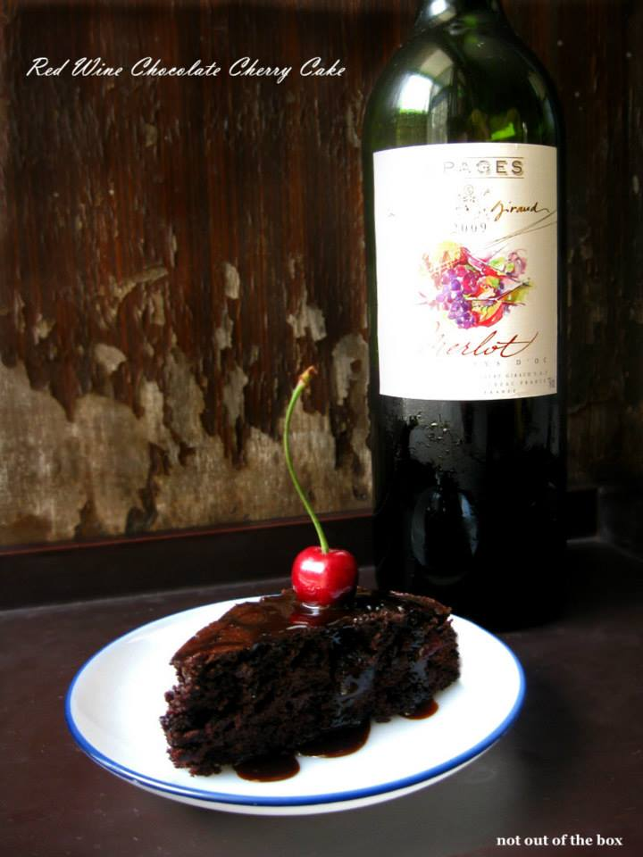 Red Wine Chocolate Cherry Cake