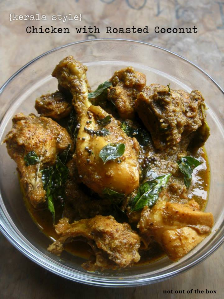 Kerala Style- Chicken with Roasted Coconut