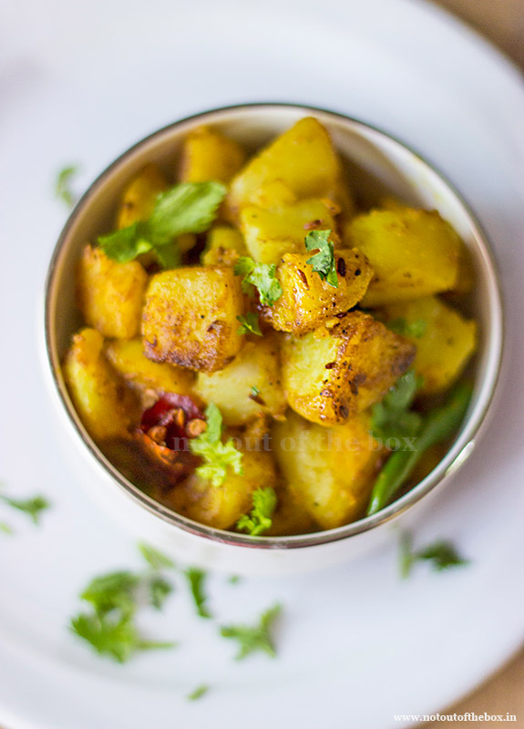 Jeera Aloo/Potato stir fry with Cumin seeds
