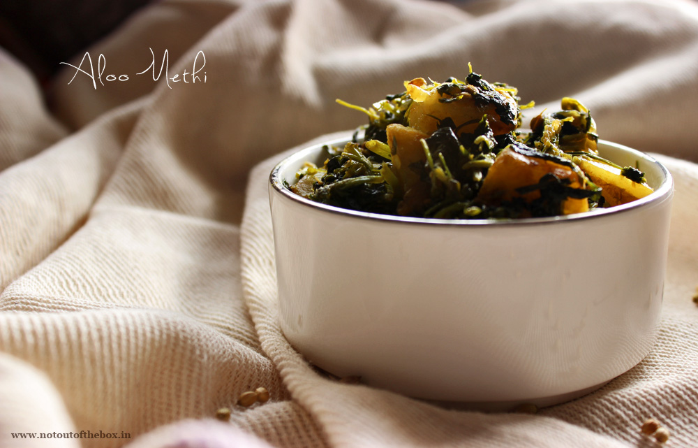 Aloo Methi/Potatoes with fenugreek leaves