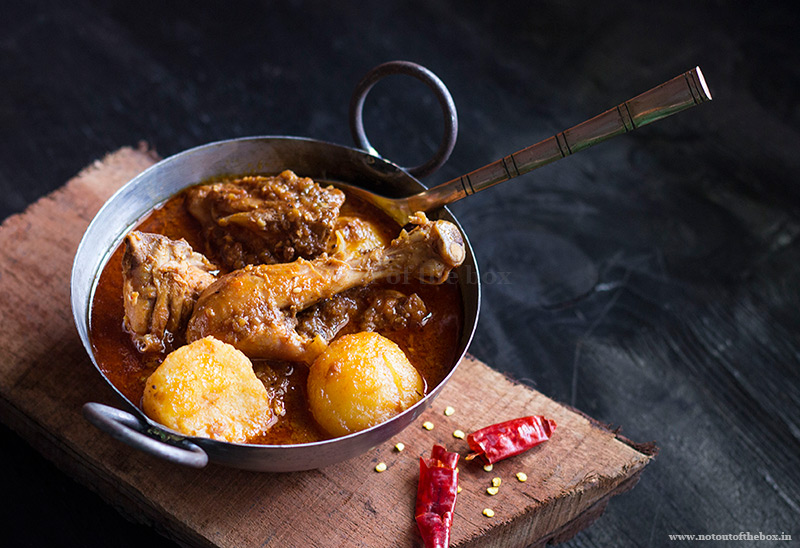 Lal Murgi r Jhol/Red Chicken Curry