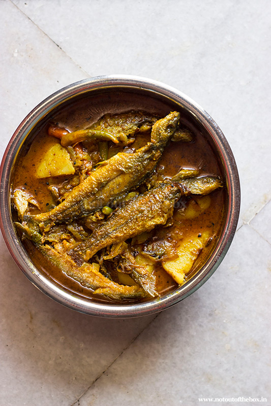 Tyangra Maach er Jhol/Spicy Tyangra fish Curry