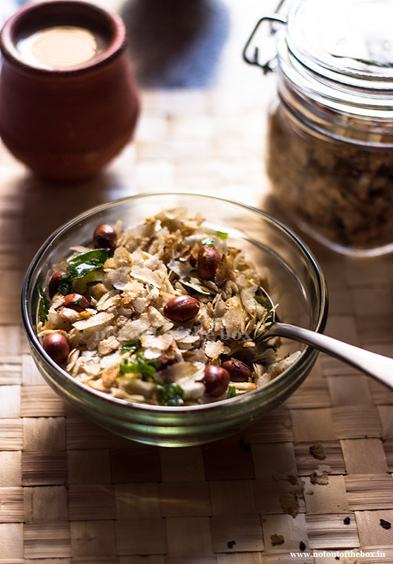 Kolkata style Rice Flakes (Poha) Fry/Kolkata style Chinre Bhaja