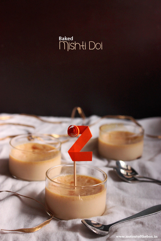 Baked Mishti Doi and NOB's 2nd Birthday