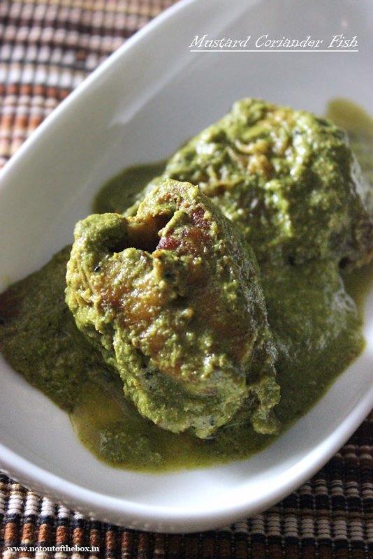 Mustard Coriander Fish/Sorshe Dhonepata die Bhola Bhetki