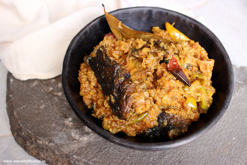 Murighonto/Fried Fish head cooked with Rice
