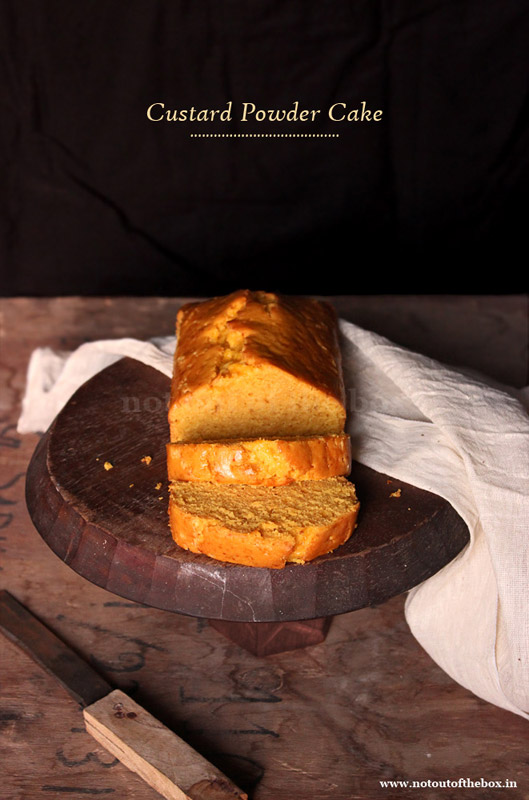 Eggless Custard Powder Cake