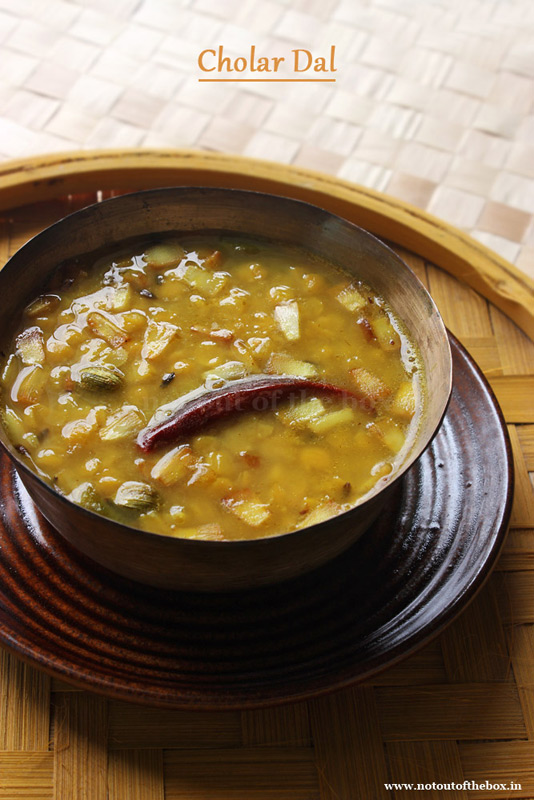 Narkol die Cholar Dal/Bengali style Chana Dal with Coconut