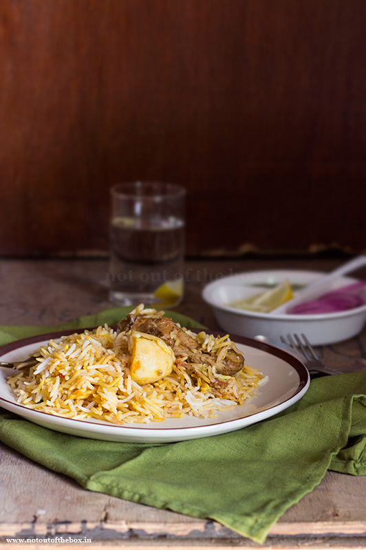 Chicken Dum Biryani- Kolkata style