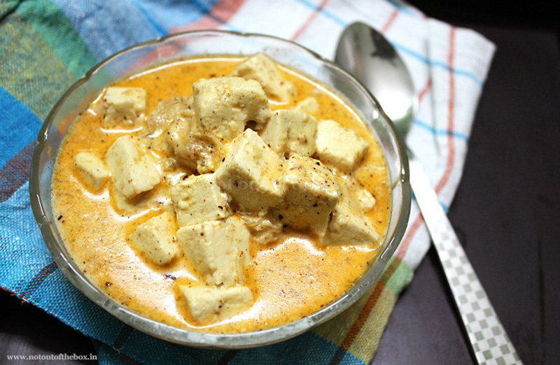 Coconut Paneer/Creamy Coconut Cottage Cheese Curry