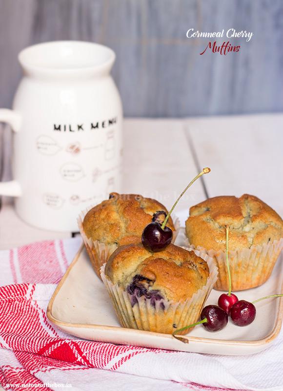 Cornmeal Cherry Muffins