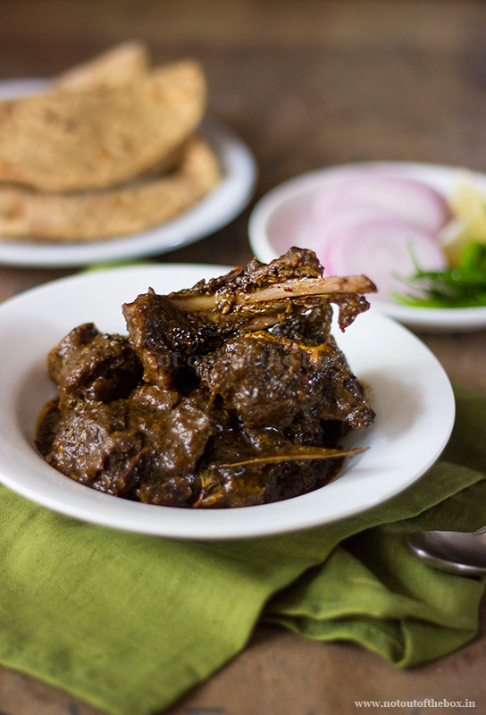 Kosha Mangsho/Bengali style Spicy Mutton Curry