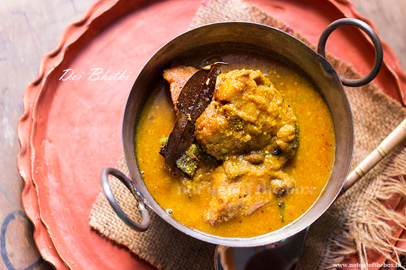 Doi Bhetki/Yogurt Fish Curry