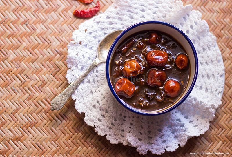 Tomato Kul er Chutney/Tomato Ber (Jujube) Chutney