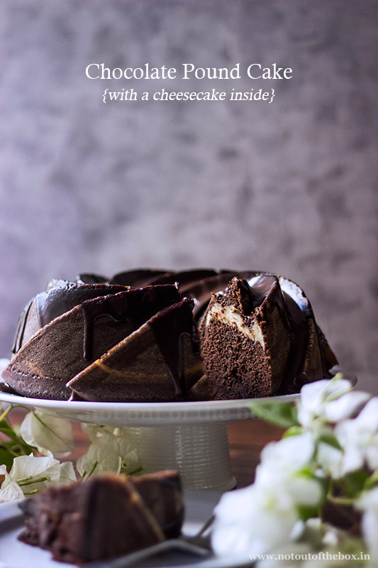 Chocolate Pound Cake {with a cheesecake inside}