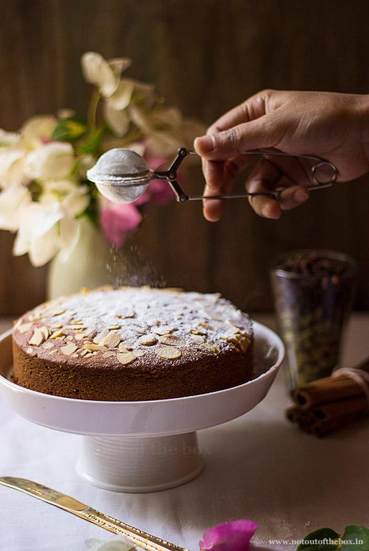 Almond Chai Masala Cake