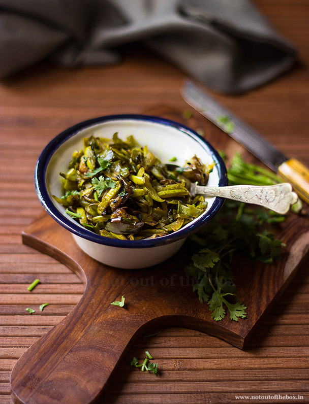 Lau er Khoshabhaja/Stir fried Bottle gourd peels