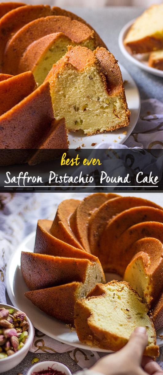 Saffron Pistachio Pound Cake Not Out Of The Box