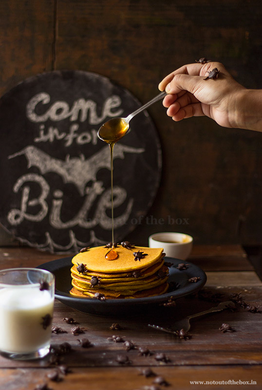Pumpkin Custard powder Pancakes