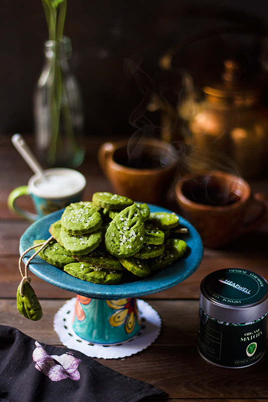 Matcha Cookies with Heapwell's Japanese Matcha Green Tea