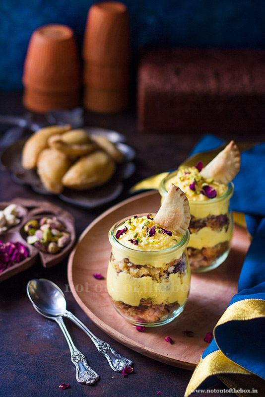 Deconstructed Gujiya Trifle