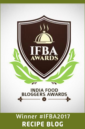 Awarded Best Recipe Blog, 2017 by IFBA