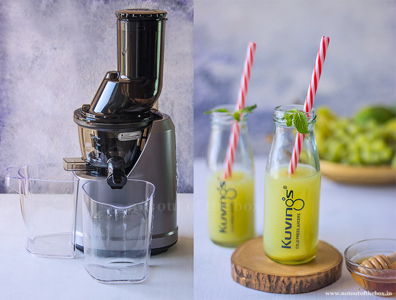Kuvings Cold Press Whole Slow Juicer Review and Green Summer Juice Recipe
